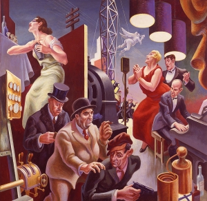 The Arts of Life in America: Arts of the City, 1932. Thomas Hart Benton (1889-1975). Egg tempera on panel, Harriet Russell Stanley Fund, 1953.19