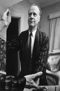 Herbert Marshall McLuhan (1911 – 1980) was a Canadian philosopher of communication theory whose work is one of the cornerstones of the study of media theory.Marshal McLuhan Holding a Mirror, c. 1967, John Reeves [Attribution], Library & Archives Canada.