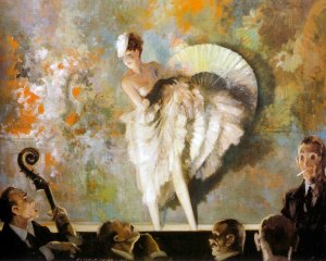 French Vaudeville, 1937. Everett Shinn (1876-1953). Oil on canvas, Harriet Russell Stanley Fund, 1946.22