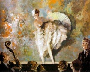 French Vaudeville, 1937. Everett Shinn (1876-1953). Oil on canvas, Harriet Russell Stanley Fund, 1946.22