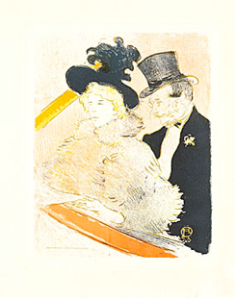 At the Concert, 1896.  Henri de Toulouse-Lautrec(1864-1901). Color lithograph. Herakleidon Museum, Athens, Greece.