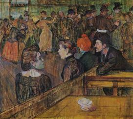 Ball at the Moulin de la Galette,1889. Henri de Toulouse-Lautrec(1864-1901). Oil on canvas. Art Institute of Chicago.