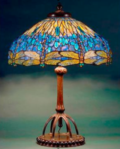 Dragonfly Table Lamp, c. 1900-1906.  Glass, bronze, New York Historical Society, gift of Egon Neustadt, N84.113