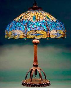 Dragonfly Table Lamp, c. 1900-1906.  Glass, bronze, New York Historical Society, gift of Egon Neustadt, N84.113
