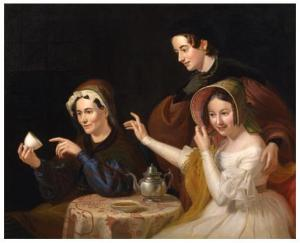 Dregs in the Cup (Fortune Telling, the Fortune Teller), 1838.  William Sidney Mount (1807-1868).  Oil on canvas, 42 x 52 in.  New York Historical Society.