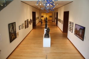 A view of the Low Illustration Gallery, fully installed.