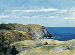 One of two Hoppers in the permanent collection, Blackhead, Monhegan is an example of Hopper's landscapes painted en plein air during small trips around New England.