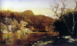 John Kensett (1816-1872), Rondout Creek, 1862, Oil on canvas, 15 x 24 in.  Charles F. Smith Fund, 1944.10.