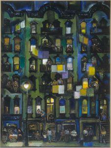 Night, 1960.  Frank di Gioia (1900-1981).  Oil on canvas, 40 1/4 x 30 3/8 in.  Albright-Knox Art Gallery.