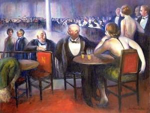 Night Club, 1933.  Guy Pene du Bois, 1884-1958. Oil on canvas, 29 1/8 X 36 in. Hirshhorn Museum and Sculpture Garden, Smithsonian Institution.