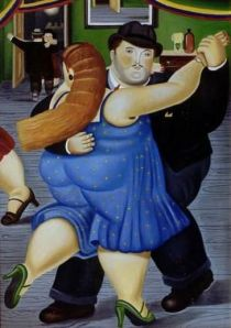 Dancing Couple, 1987.  Fernando Botero (b. 1932).  Oil on canvas, 76 3/4 x 51 1/2 in.  Private Collection.