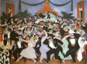 Wedding Feast, 1953.  Frank di Gioia (1900-1981).  Oil on canvas, 30 x 40 in. Gift of Mrs. Elisha Cooper, 1954.03.